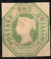 1847 VICTORIA 1Sh. EMBOSSED SG.55 Die II - ORIGINAL GUM VLH * VERY FINE - RR !