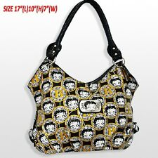 Betty Boop Black & Gold Print Tote Style Purse