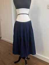 NWT Vanessa Bruno Blue Denim Pleated Skirt SZ 38