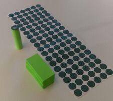 108 pcs Pre-Cut 18650 Insulator and LIME GREEN PVC Heat Shrink Wrap Vape ebike