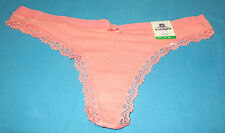 b. tempt'd Wacoal~L 7~Desert Flower Hip N Chic Cotton Thong Panty #976115