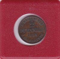 2 Pfennig Braunschweig 1859 Wilhelm Brunswick seltener Jahrgang