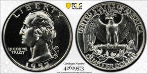 "1952 25C Silver Proof Washington Quarter PCGS PR 66 ""Superbird"" FS-901"