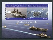 Central African Republic 2017 CTO Military Ships Navy 2v M/S I Boats Stamps