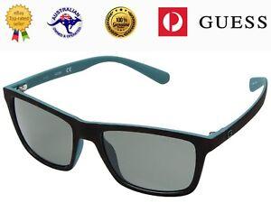 GUESS Unisex GU6889 52R POLARIZED Matte Tortoise  Frame Grey Lenses Sunglasses