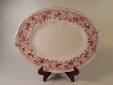 English Staffordshire Sterling Red Vine J&G Meakin Leaf Grape Pattern Platter