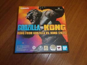 Bandai S.H.MonsterArts King Kong Figure From Godzilla VS. Kong 2021 In Stock USA