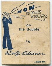 Vintage Us Navy Related: Brazil Gem Dealer Advertising Card/Folder For Sailors