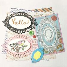 Oval Cutting Dies Stencil Scrapbooking Embossing Album Paper Card Craft Decor