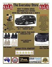 Jeep Grand Cherokee Titanium Sheepskin Seat Covers All Over Btm Pr ABAG 35MM