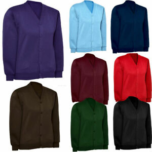 Girls Cardigan Fleece Sweatshirt Casual / School Uniform Age 2 to 13