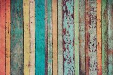 Fussmatte Streifen Holzboden retro Türvorleger Fußmatte Sprüche Schmutzmatte