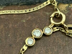 """14k Yellow Gold necklace 17"""" chain Italy 585"""