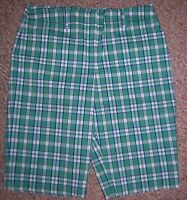 JONES NEW YORK Cyan Green Plaid Knee Length Long Shorts or Capris Pants Size 10
