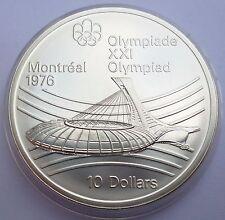 Canada 10 Dollars 1976 Silver coin UNC Stadium Montreal Olympics 1976