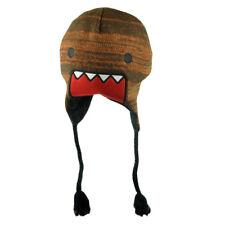Domo Kun Japanese Animation Supreme Lettering Felt Peruvian Knit Beanie Hat