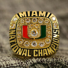 NCAA 1991 Miami Hurricanes National Football Championship Copper Ring 8-14Size