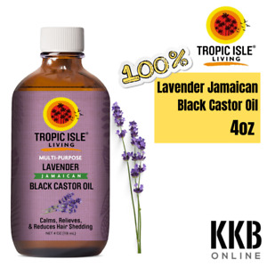Organic Black Castor Oil 100% Pure Lavender to Cleanse Hair From Toxins 4oz