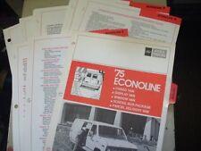 1975 FORD ECONOLINE DEALER ALBUM SHEETS BROCHURE