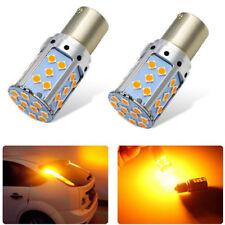 Error Free Amber Yellow BA15S 1156 LED Bulb 35-SMD Turn Signal Lights Canbus 1X
