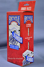 BICYCLE PLAYING CARDS Box Of 12 Decks JUMBO 6 BLUE 6 RED Standard Index Size 808
