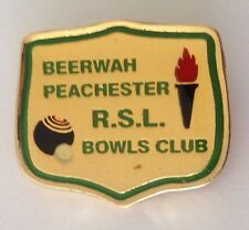 Beerwah Peachester RSL Bowling Club Badge Pin Vintage Lawn Bowls (L14)
