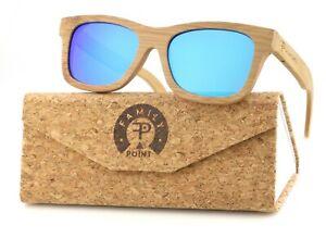 Familypoint - Damen und Herren Bambus Holz Sonnenbrille - polarisiert & UV400