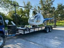 ROTORWAY 90 EXEC 2 SEATER HELICOPTER, W/ GAS TUGGER AND 2019 FLYRITE TRAILER