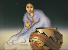 """R.C.Gorman- """"Woman in Purple Blanket w/Jar""""-- 10 1/2 x 13,  Southwest Art Print"""
