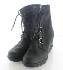 P5 $240 Women's Sz 7.5 M Sorel Joan Of Arctic Wedge II Nubuck Leather Wedge Boot