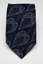 KOLTE COUTURE Paisley Floral Blue Woven Italian Silk Tie