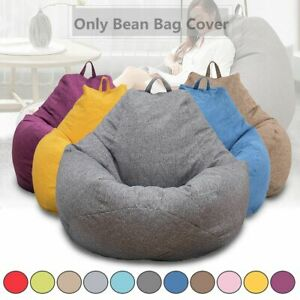 Bean Bag Sofas Cover Chairs Without Filler Cloth Lounger Seat Puff Couch Room