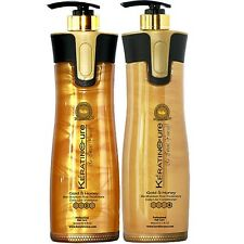 SULFATE FREE  KERATIN CURE SHAMPOO CONDITIONER GOLD & HONEY BIO 960ML 32 FL OZ