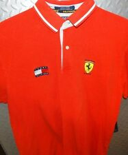 17374 ~ Vintage TOMMY HILFIGER Official FERRARI Racing Polo Shirt ~ L Large