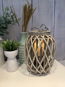 30cm Wicker willow rattan Candle Lantern Garden Home Decor