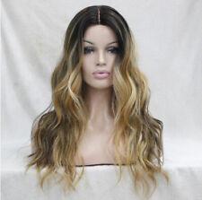 Lace Front Wig Perücke Spitzenperücke Silk Top Silktop Ombre braun blond gewellt