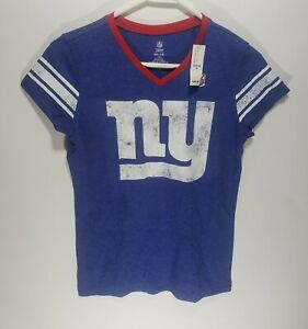 NWT Girls NFL Team Apparel Glitter New York Giants Authentic Jersey Shirt XXL