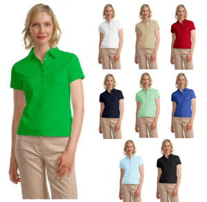 Port Authority Women's Superior Pima Soft Cotton Golf Polo Shirts NEW L449