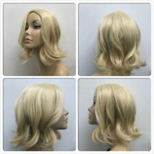 HIGH HEAT RESISTANT NEW FASHION WAVES PALE BLONDE LADY WOMENS DAILY FULL WIG UK