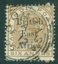 More details for sg 56 british east africa 1895. 6a pale brown. fine used.