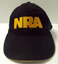 New listing Nra logo hat cap black gold yellow letters Usa American flag gun rifle firearm
