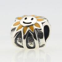 Retired Pandora Genuine Sterling Silver .925 Bead Charm Jewelry Smiling Sunshine
