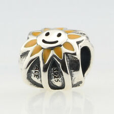 Retired Pandora Genuine Sterling Silver .925 Bead Charm Jewelry Smiling Sunshine