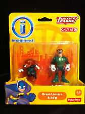 NEW MIB Fisher-Price IMAGINEXT JUSTICE LEAGUE GREEN LANTERN & Bd'g TARGET EXC.