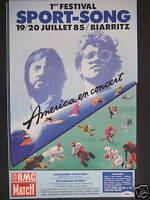 PUBLICITÉ 1985 RADIO RMC AVEC AMERICAEN CONCERT FESTIVAL SPORT-SONG A BIARRITZ