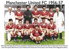 MANCHESTER UNITED FC 1956-57 TOMMY TAYLOR DAVID PEGG GEOFF BENT LIAM WHELAN