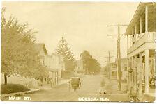 RPPC NY Odessa Main Street with Buggy Schuyler County