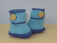 KNITTING PATTERN INSTRUCTIONS-BABY ONE BUTTON BUMPER BOOTIES KNITTING PATTERN