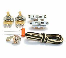 WKM-VWHT White Switch Guitar Wiring Kit For Fender MUSTANG