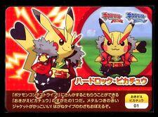 PROMO POKEMON JAPANESE POKESCRAP 2014 N° 01 Cosplay pikachu, Hard Rock pikachu